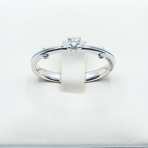 Alianza de Diamantes y Oro Blanco. 18 K