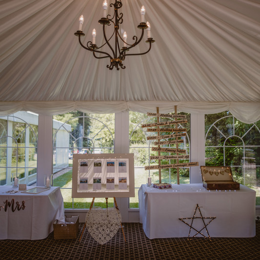 Audleys Wood Hotel Basingstoke Garden Pavillion dressed and styled by Lily's