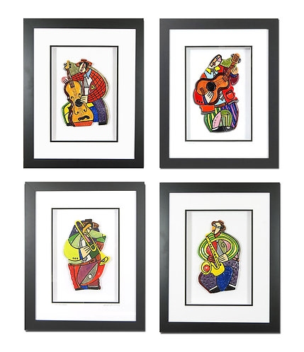 """"""" 4- Pc Framed Music Clay Set """""""