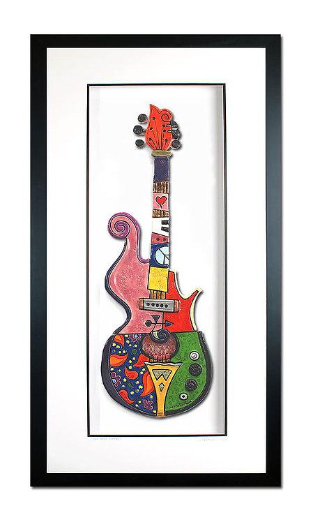 Framed Prince's Rare Guitar - $1200
