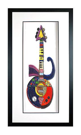 Framed Purple Rain Guitar - $1200