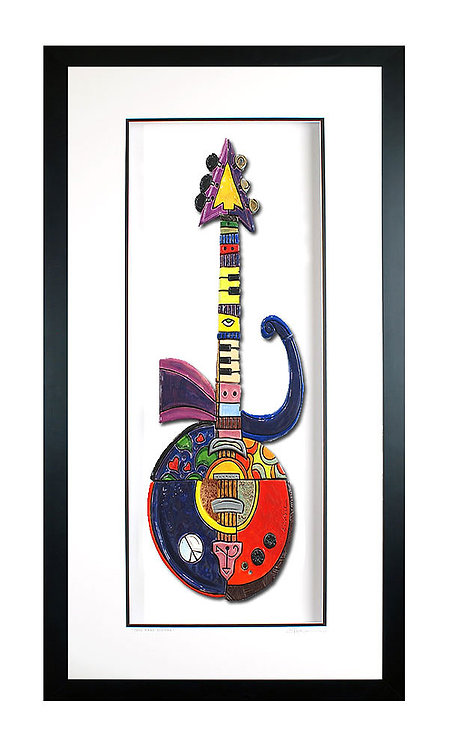 Framed Purple Rain Guitar - $1200