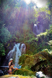 waterfalls Blue River