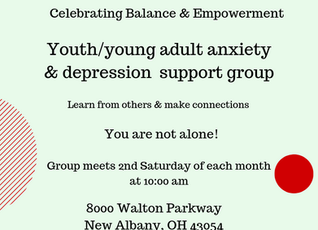New support group for youth and young adult - anxiety & depression starts this August