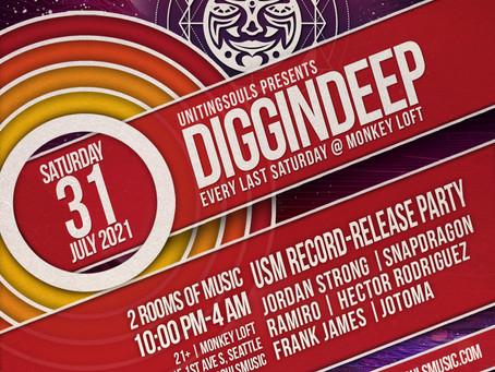 Tickets for Diggin' Deep @ Monkey Loft 7/31/21 http://tiny.cc/DDJuly2021