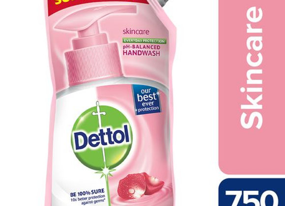 Dettol Hand Wash Liquid Refill - Skincare, 750 ml Pouch