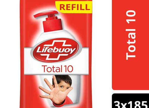 Lifeboy Hand wash - Total 10 Active, Natural Germ Protection, 185 ml (Pack of 3)