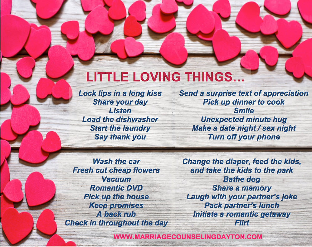 Little Loving Things - Marriage Counseling Dayton, OH