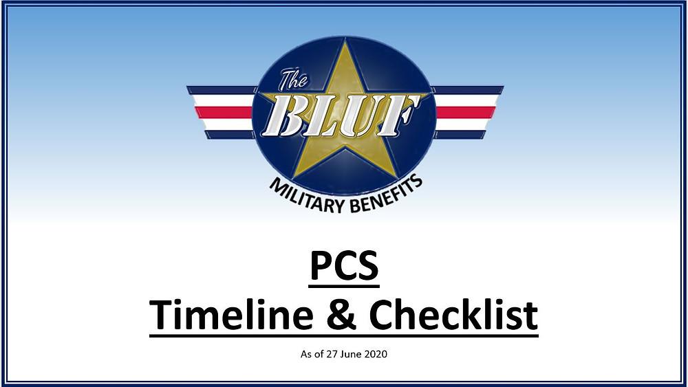 Military PCS Timeline & Checklist