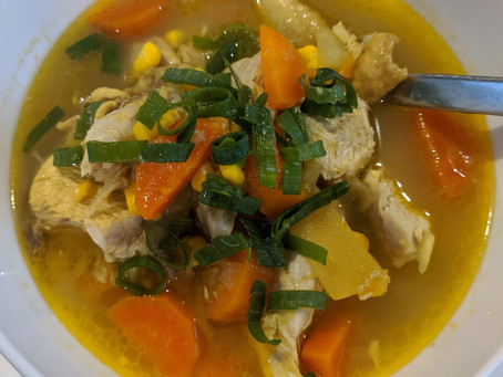 Immune supporting Chicken vegetable soup
