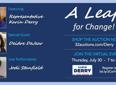 A Leap For Change! July 30, 7pm
