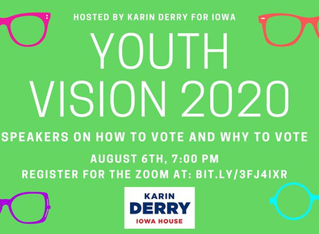Youth Vision 2020, August 6, 7pm