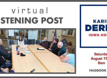 Virtual Listening Post, Aug. 15, 9am