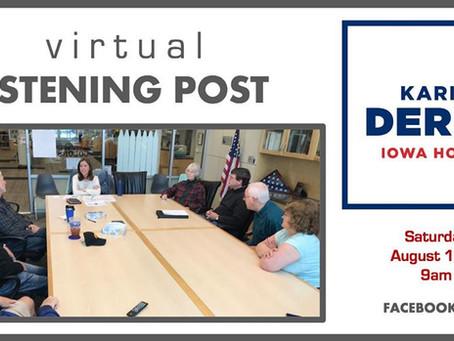 Virtual Listening Post, Aug. 15, 9am