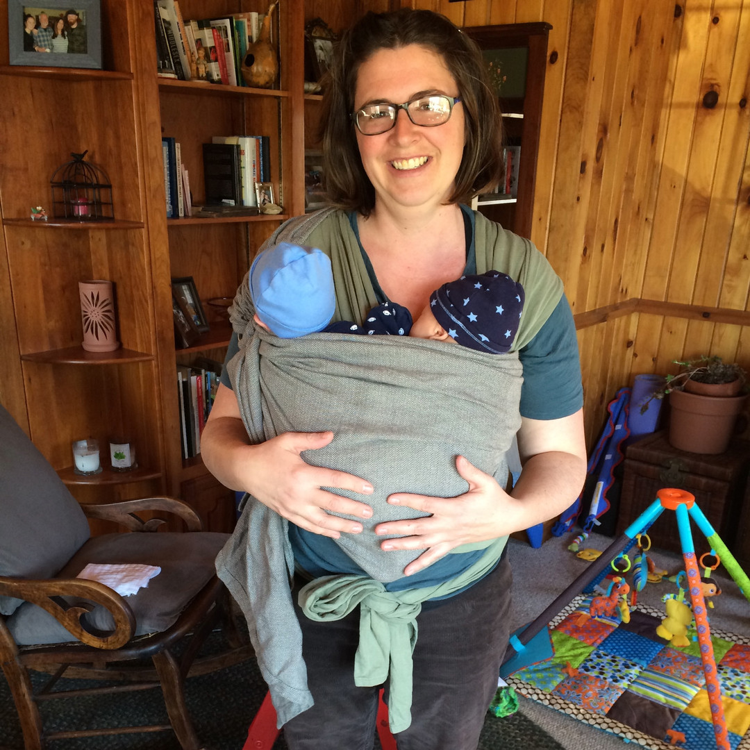 babywearing with twins
