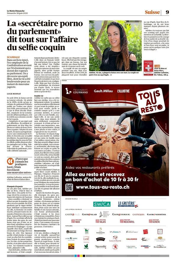 Article Le Matin Dimanche 28.06.2020.jpe
