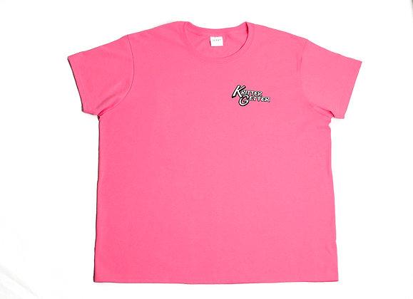 T-Shirt: Pink & White
