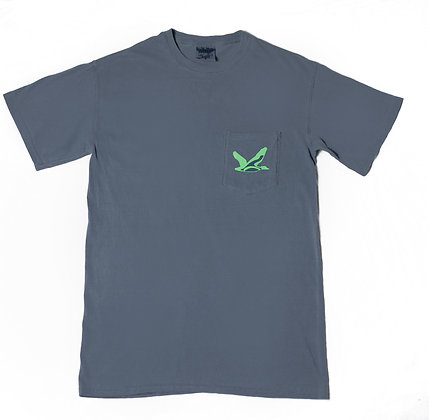 Comfort T-Shirt: Slate Gray & Lime Green