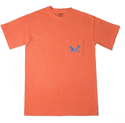 T-Shirt: Comfort Color Salmon/Blue