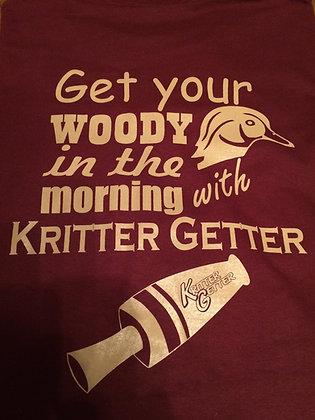 T-Shirt:  Kritter Getter Woody Maroon/Khaki
