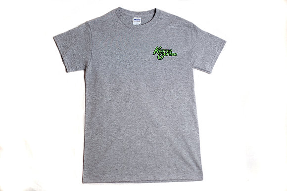 T-Shirt: Gray & Lime