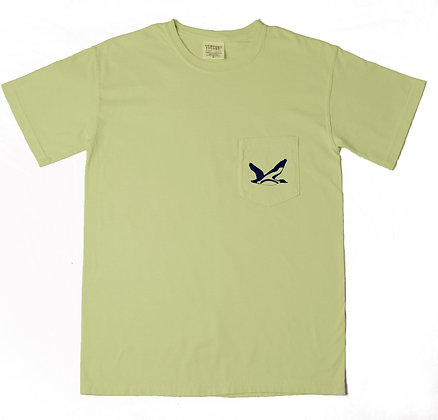 Comfort T-Shirt: Light Green & Blue