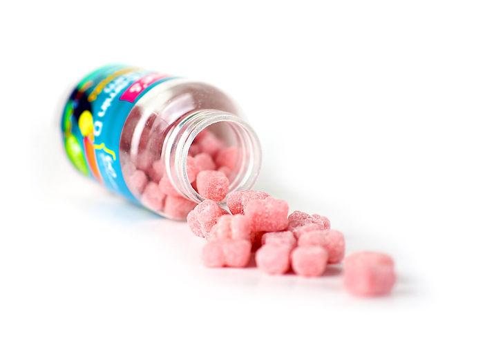 fine's vitamin d + calcium gummis supplemen for kids