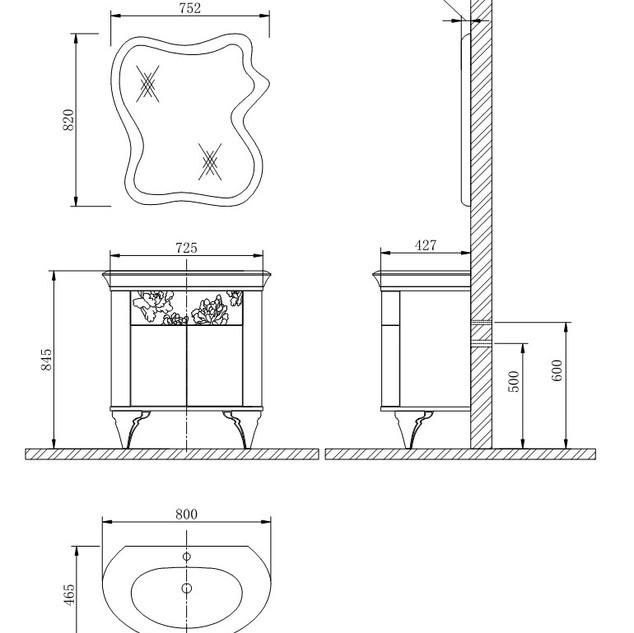 Bathroom Cabinet CT-23