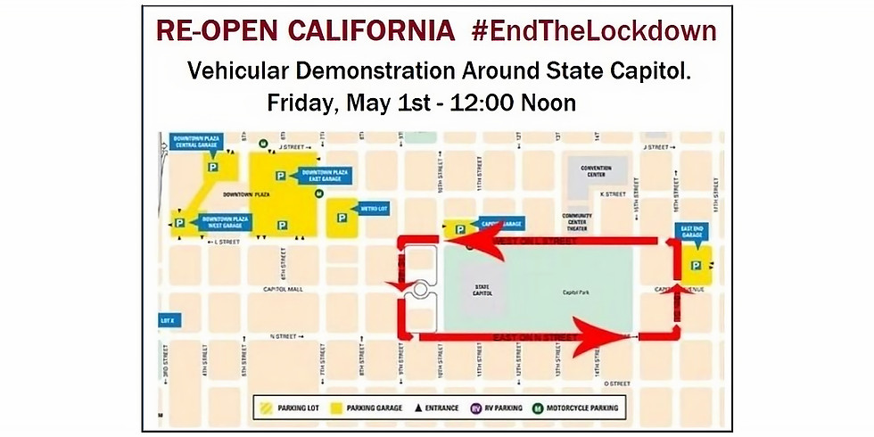 End the Lockdown - Sacramento Mayday March