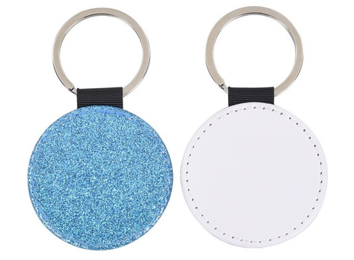 Another Glitter Key Chain Sublimation Blank Shape--Round!