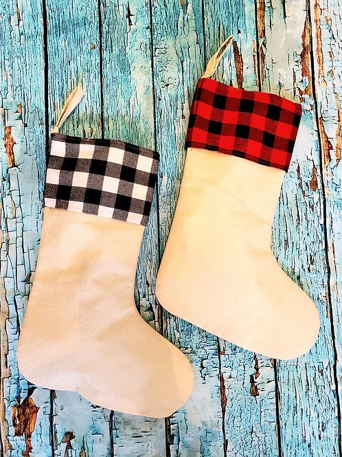 Linen Sublimation Blank Christmas Stocking