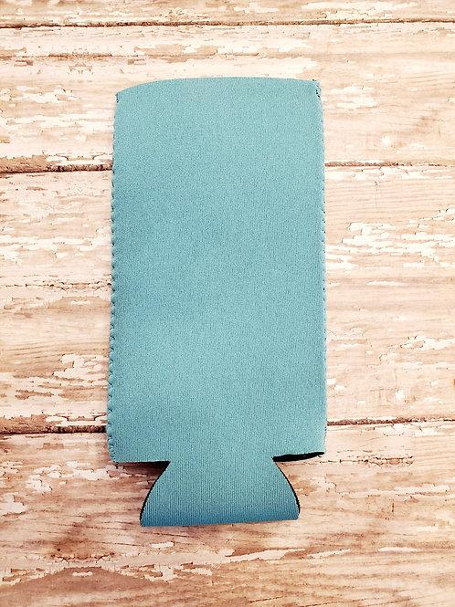 Coastal Blue Neoprene Slim Can Cooler Koozie
