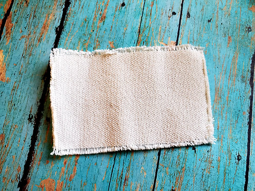 Distressed Burlap Rectangle Hat Patch Sublimation Blank with Glue Paper