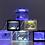 Thumbnail: 水槽セット USB接続 水槽 水槽 セット 静音 ミニ水槽 静かなメダカ飼育セット LEDライトはランダムカラー (LEDライトあり) (水槽外ーブラック)