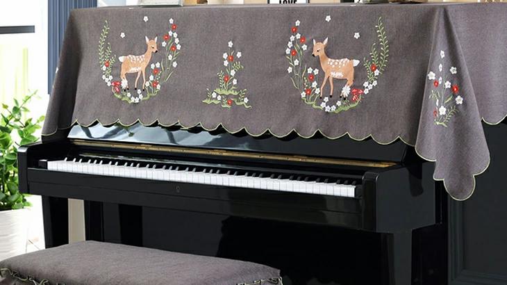 【全国送料無料】 アップライト ピアノ用カバー トップカバー 北欧 人気 上品 防塵 ピアノ カバー おしゃれ 可愛い 人気アップライトピアノ カバー トップカ