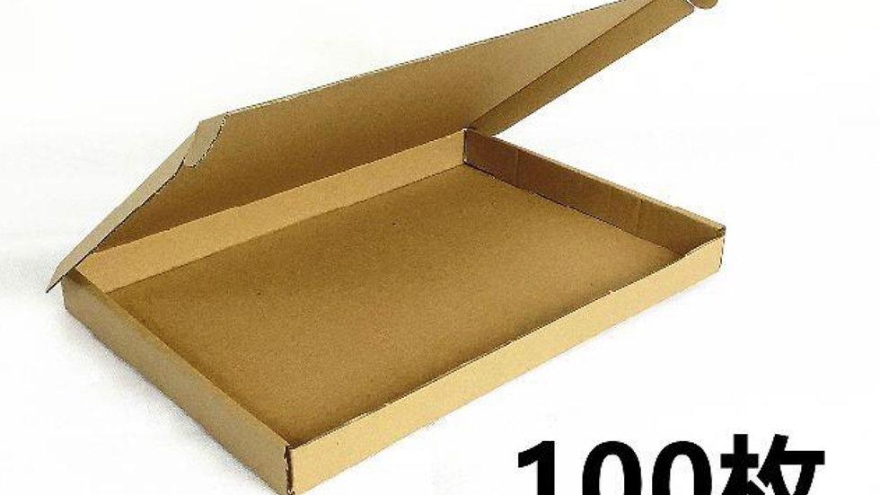 100枚 a4サイズダンボール クリックポスト専用 ゆうパケット対応ダンボール A4箱組み立てダンボール クリックポスト対応最大サイズ 定形外 メール便