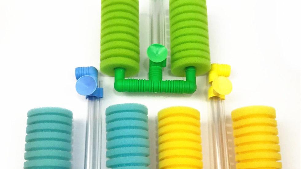 【三色セット】アクアリウム 水槽スポンジフィルター 水槽浄水 水槽 ろ過 熱帯魚 金魚  酸素の供給水槽飾りに合わせ ファッション ろ過装置 WN-88 黄色/