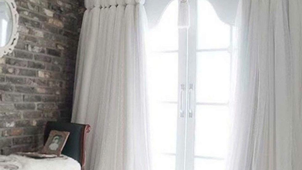 姫系カーテン 遮光 カーテン 姫 二重カーテン レース おしゃれ インテリア 遮光率70%【CT20010】