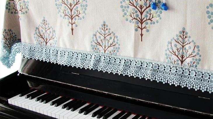 【楽天スーパーSALE 10%OFF】ピアノカバー トップカバー 椅子カバー 可愛い 刺繍 ピアノ 防塵カバー 厚手 ヨーロッパ風 ピアノ カバー おしゃれ
