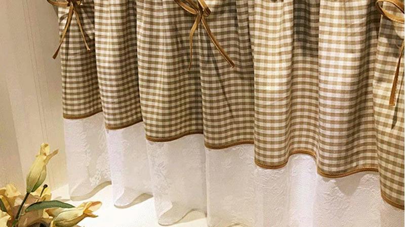 カフェカーテン 巾:200cm 丈:40cm 45cm 50cm 55cm 60cm 65cm 70cm 【オーダー可】【洗濯可】キッチン 喫茶店 洗面所 出窓