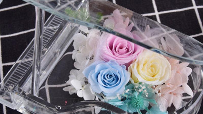 フラワーギフト ブリザードフラワー ギフト プチ プレゼント 誕生日 ピアノ型 かわいい 枯れないお花 おしゃれ ブリザード フラワーアレンジメント 贈り物 結
