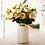 Thumbnail: どんな花にも似合うかびん!Mサイズ 花瓶 おしゃれ 花瓶 陶器 花瓶 一輪挿し かびん 北欧 かびん フラワーベース 花器 白 ゴールド 柱型 マーブル 大理石