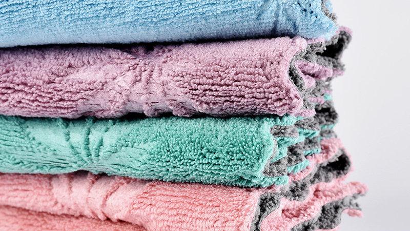 キッチン吸水タオル 布巾 雑巾 ふきん ぞうきん 速乾 強吸水性 強通気性 掃除用クロスカエデの葉