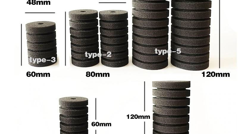 アクアリウム 水槽フィルター 交換用スポンジ5種類