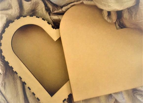 J.B.P. 2 PLAIN HEART JEWELRY BOX