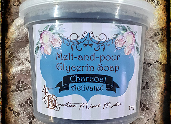 Melt and Pour Soap/Charcoal