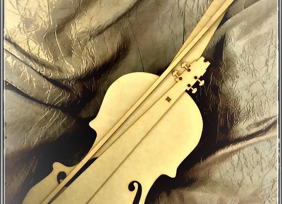 Large Violin 6MM MDF