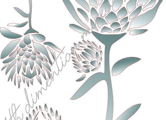 9[2] Protea Bunch 2 / Size A3
