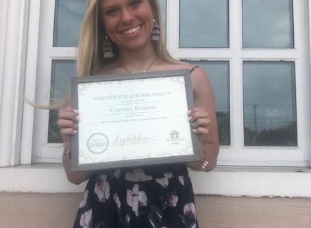 Our 2020 Scholarship Winner!
