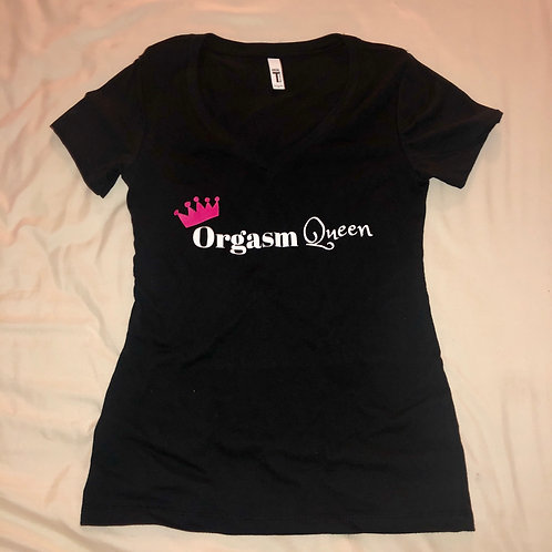 Orgasm Queen V-neck